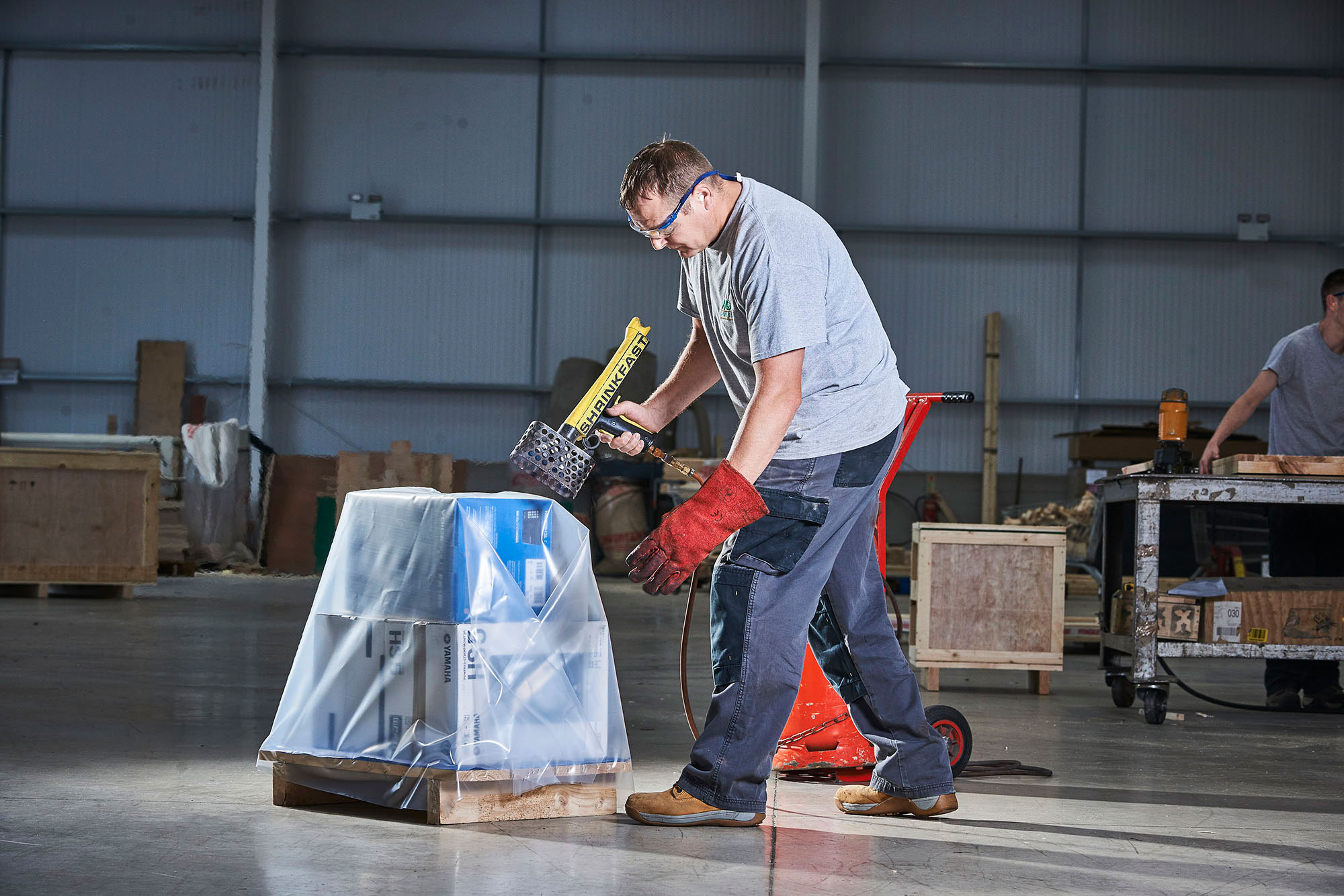 Palletising, shrink wrapping and foil bags » MG Cases Ltd